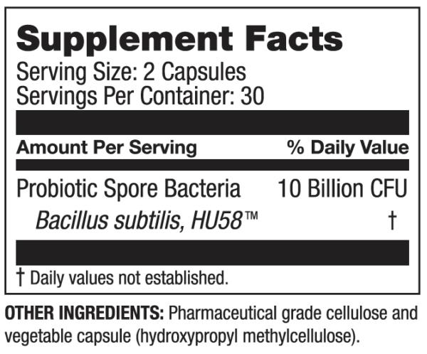 HU58 High Potency Bacillus Subtilis